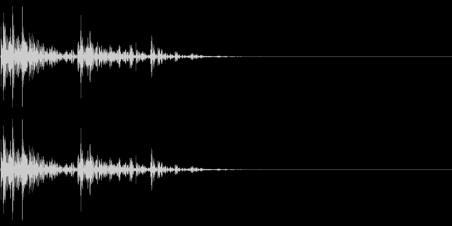 【生録音】サイコロを振る音 1の未再生の波形