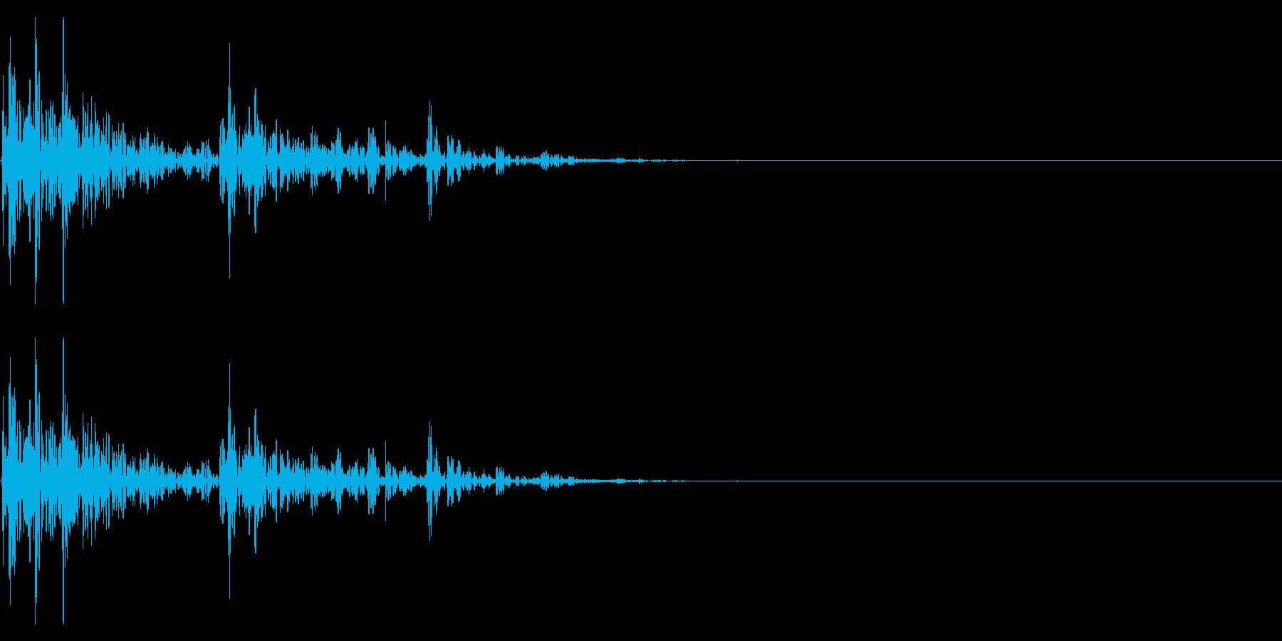 【生録音】サイコロを振る音 1の再生済みの波形