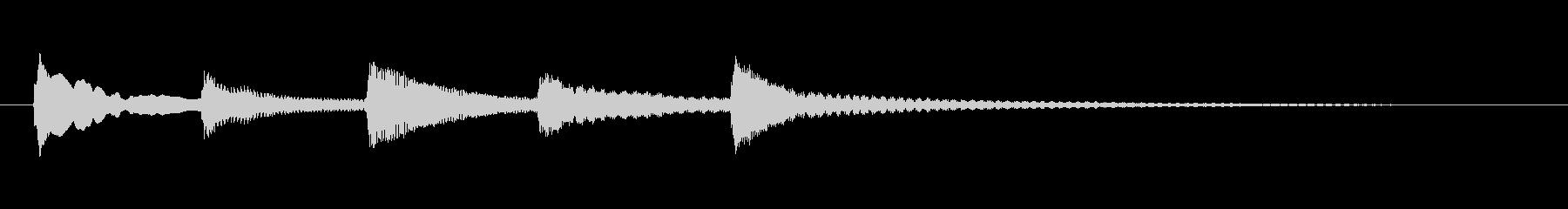 ゆらぎのある和風(琴)の終了音の未再生の波形