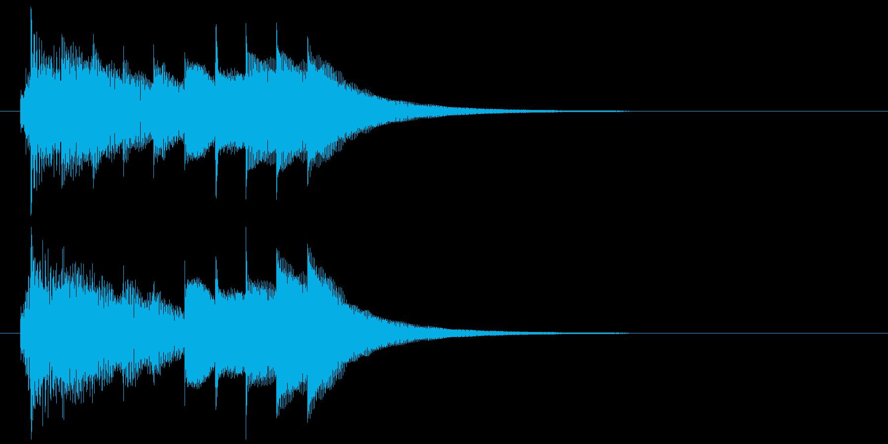 おしゃれで少し切ないオルゴールのジングルの再生済みの波形