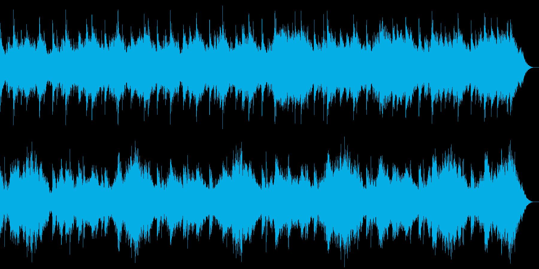 森の中にいるようなヒーリングミュージックの再生済みの波形