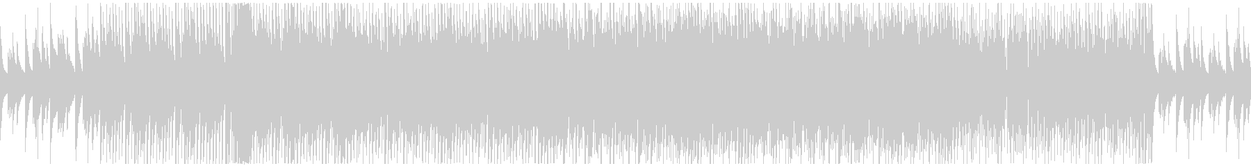 JAZZにEDMをMIXしたBGMの未再生の波形