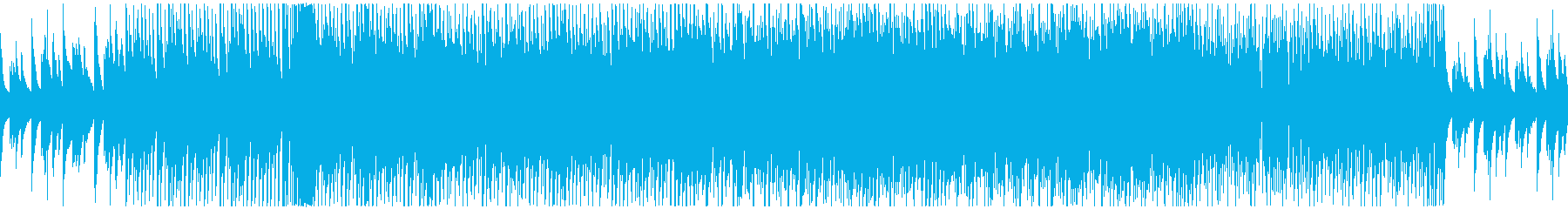 JAZZにEDMをMIXしたBGMの再生済みの波形