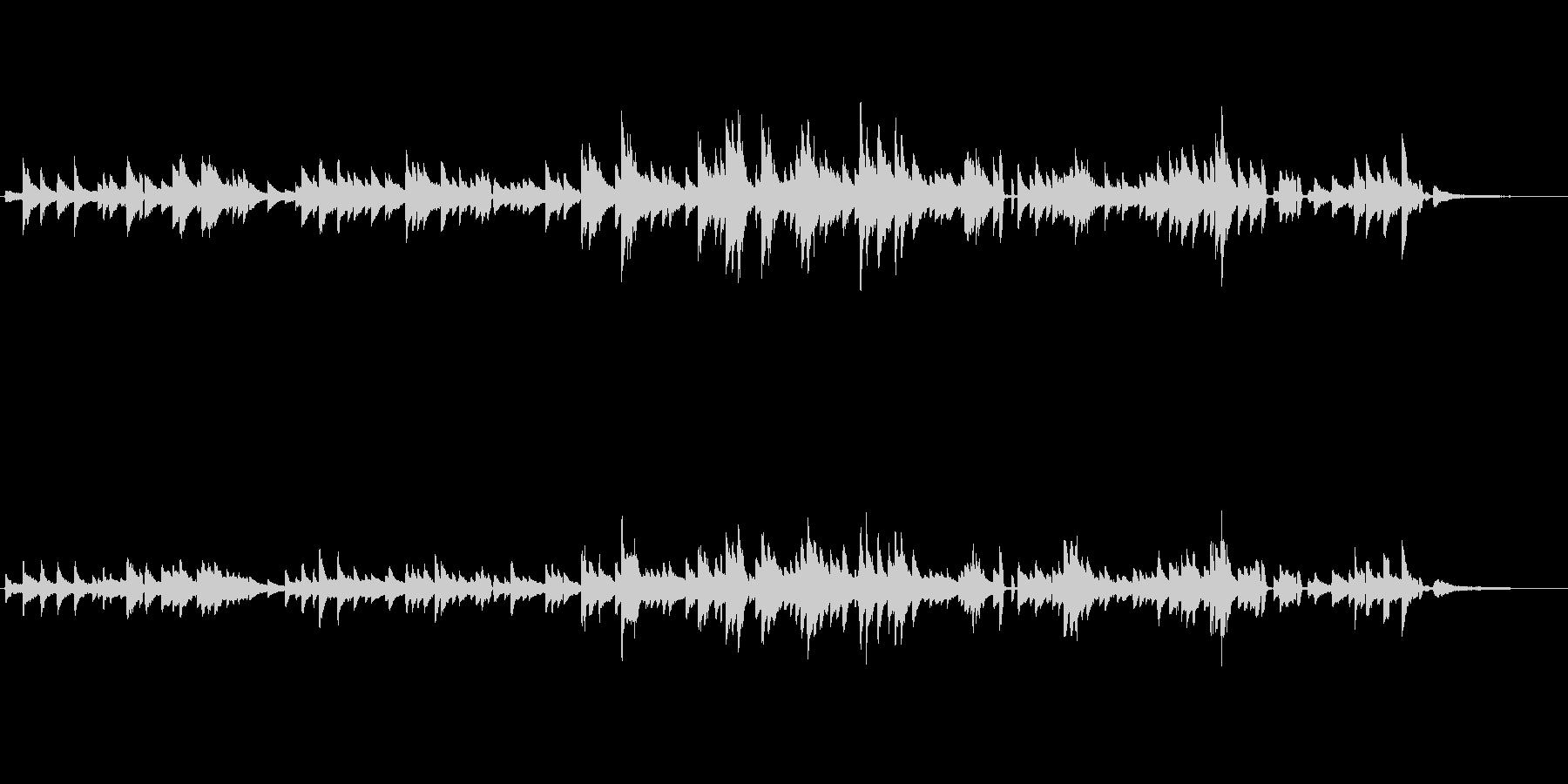 生ピアノソロ・ブルースっぽいジャズピアノの未再生の波形