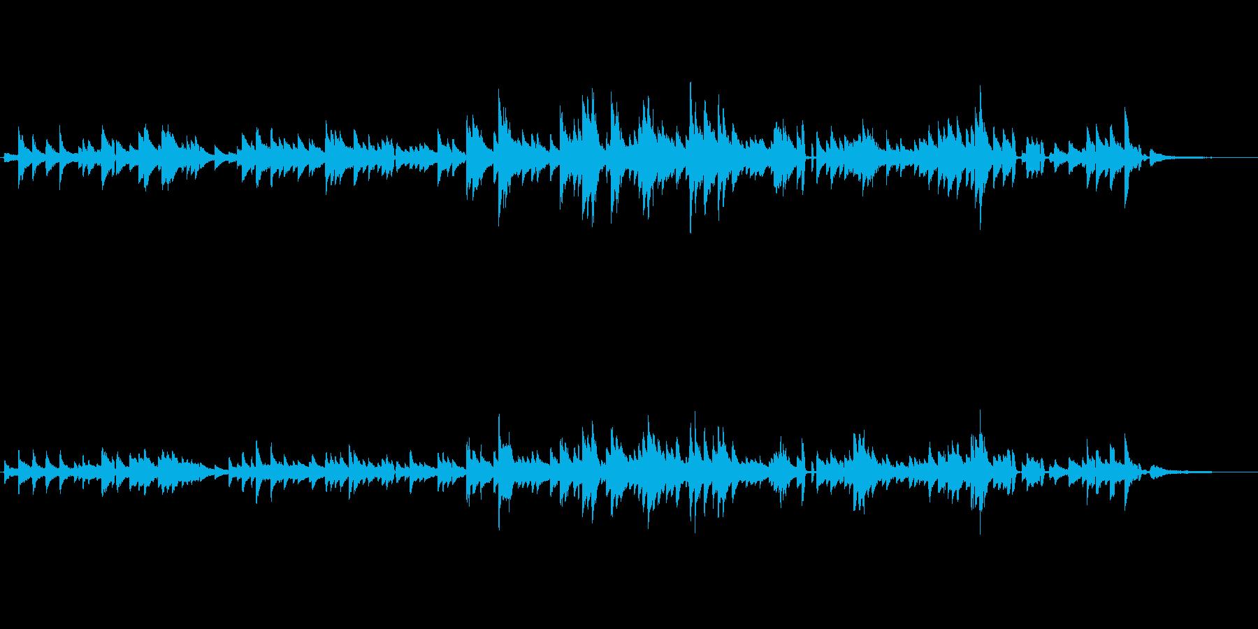 生ピアノソロ・ブルースっぽいジャズピアノの再生済みの波形