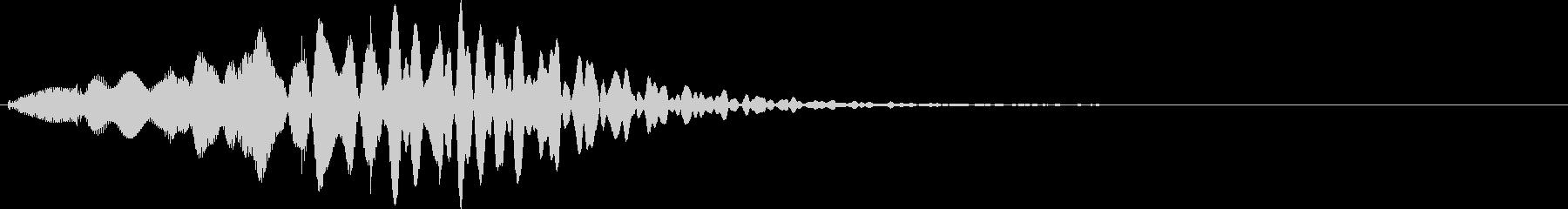 コナ○の有名野球ゲーム風のマリンバ転換音の未再生の波形