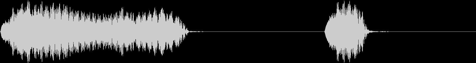 ピーッピッ(ホイッスル 信号)の未再生の波形