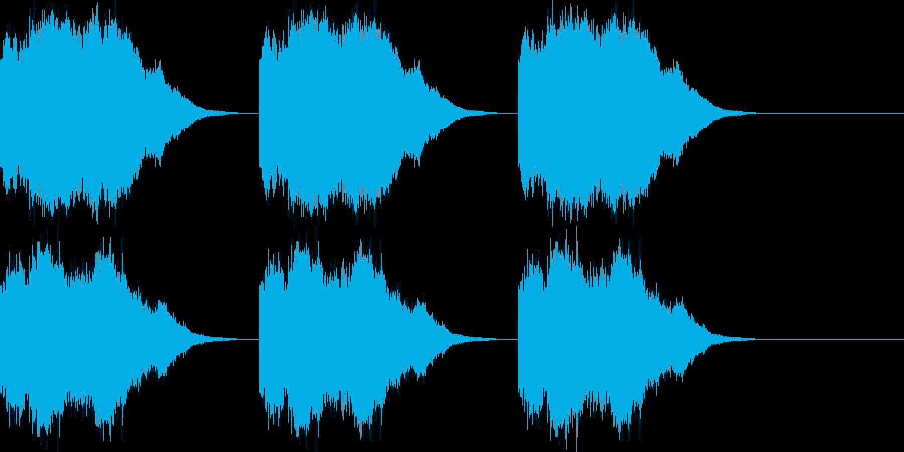 ベル/コール/着信音/アラーム音/ロングの再生済みの波形