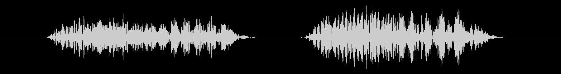 鳥 バードレイヴン03の未再生の波形