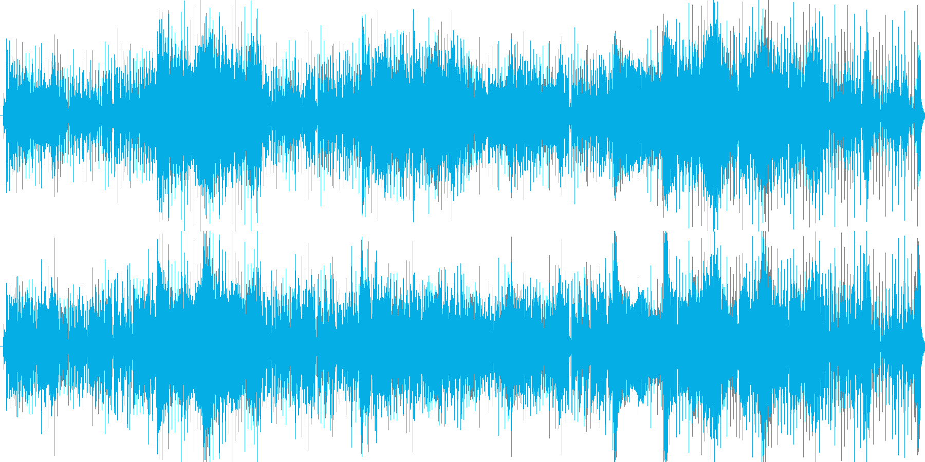ノリの良さを重視の再生済みの波形