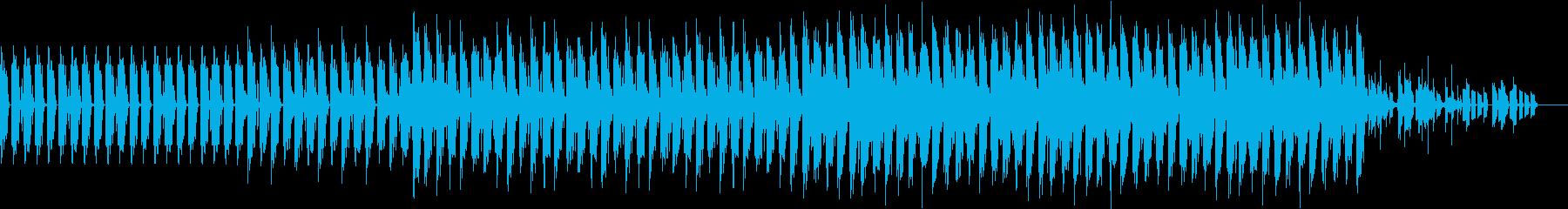 小洒落たハウスっぽい曲の再生済みの波形