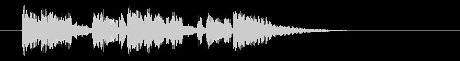 ブルージーでゆったりな雰囲気のジングル曲の未再生の波形