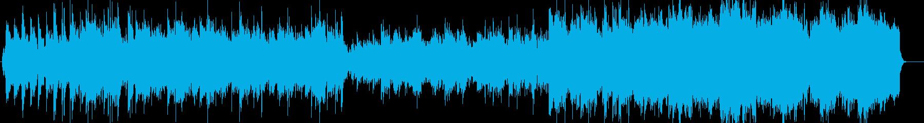 笛がメインのちょい和風なスロー曲の再生済みの波形