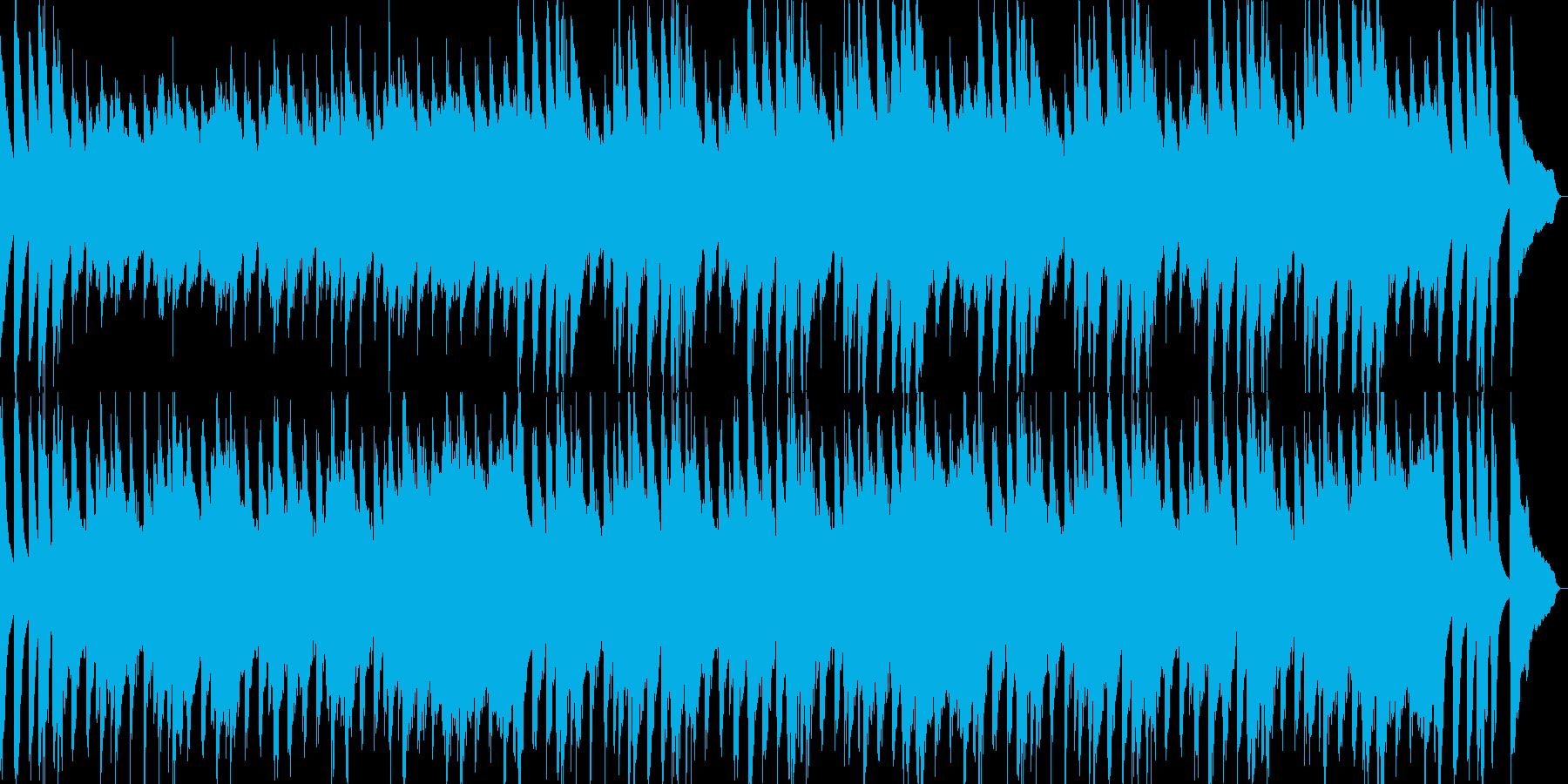 日常系アニメの明るいはじまり風の曲の再生済みの波形