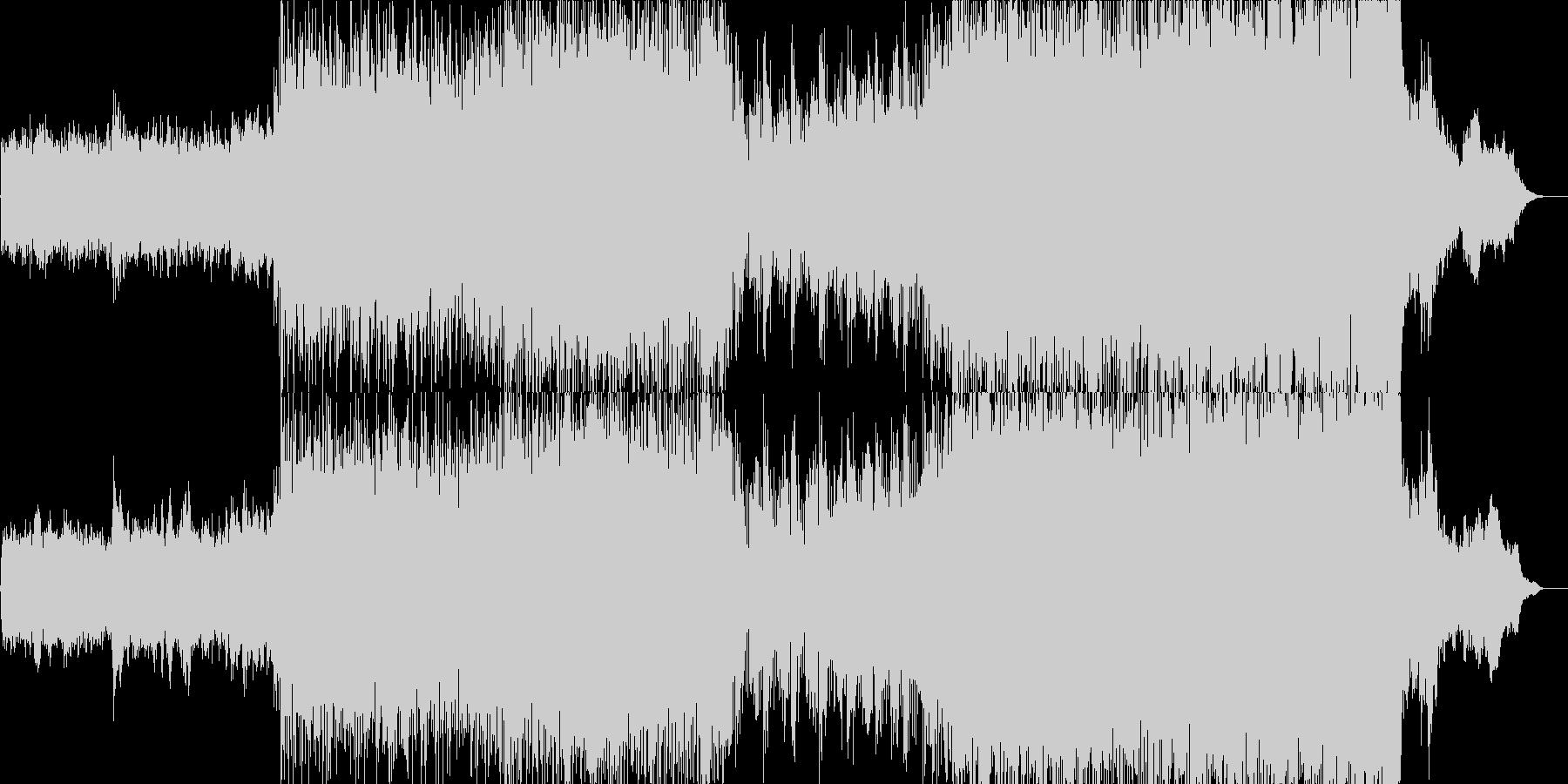 トレイラー調のハイブリットオーケスラ曲の未再生の波形