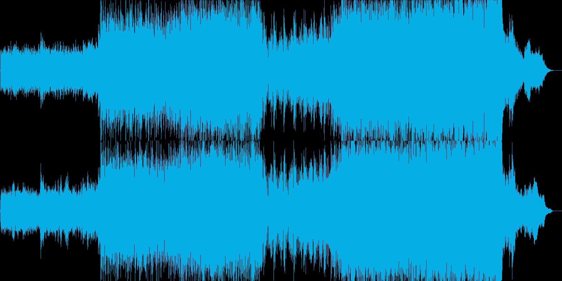 トレイラー調のハイブリットオーケスラ曲の再生済みの波形