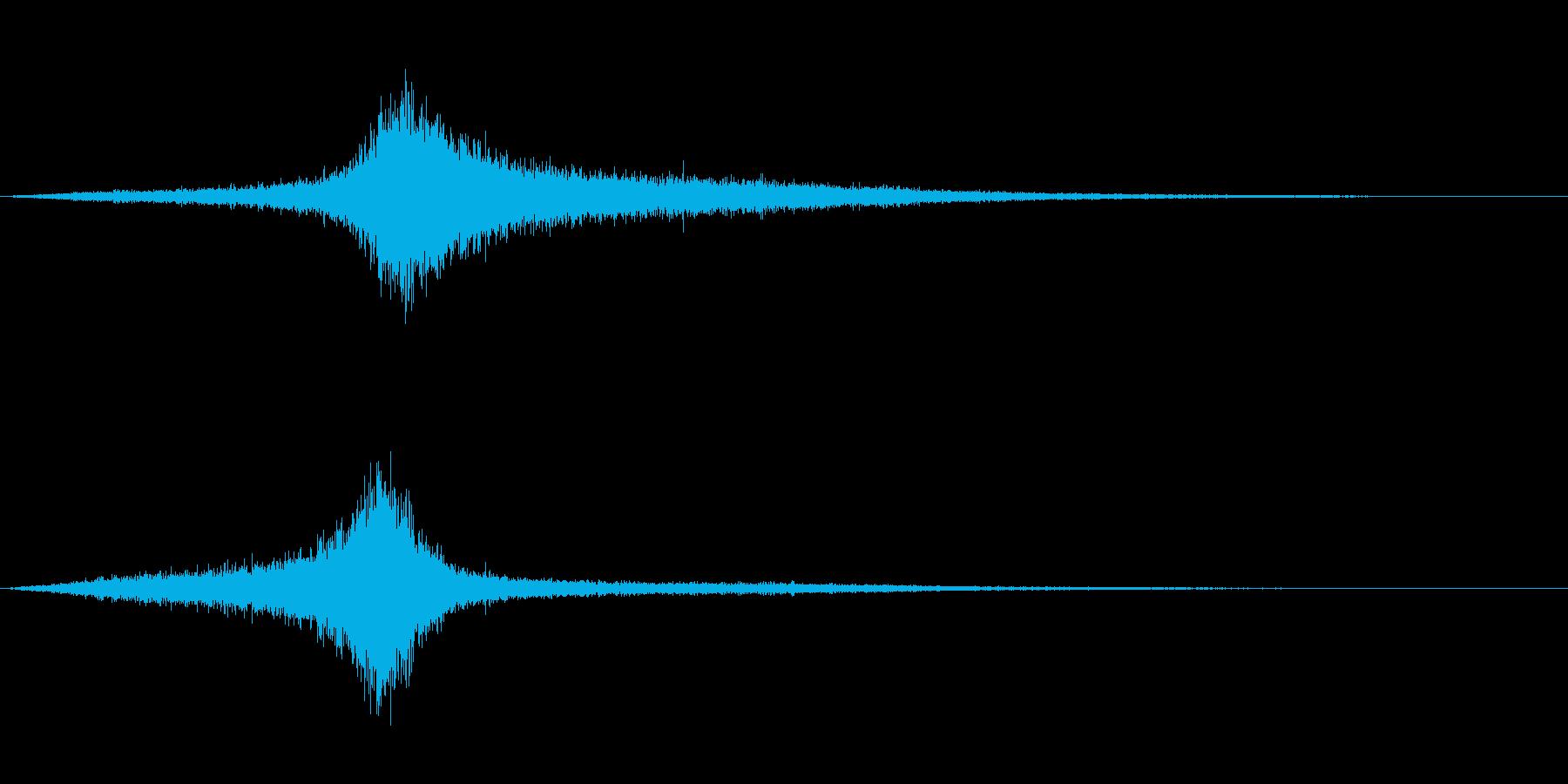 【生録音】 早朝の街 交通 環境音 13の再生済みの波形