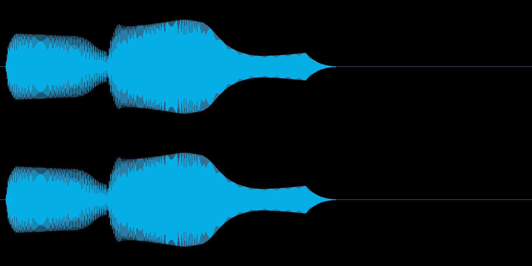 ピコン!01 字幕表示・タッチ・動作等の再生済みの波形