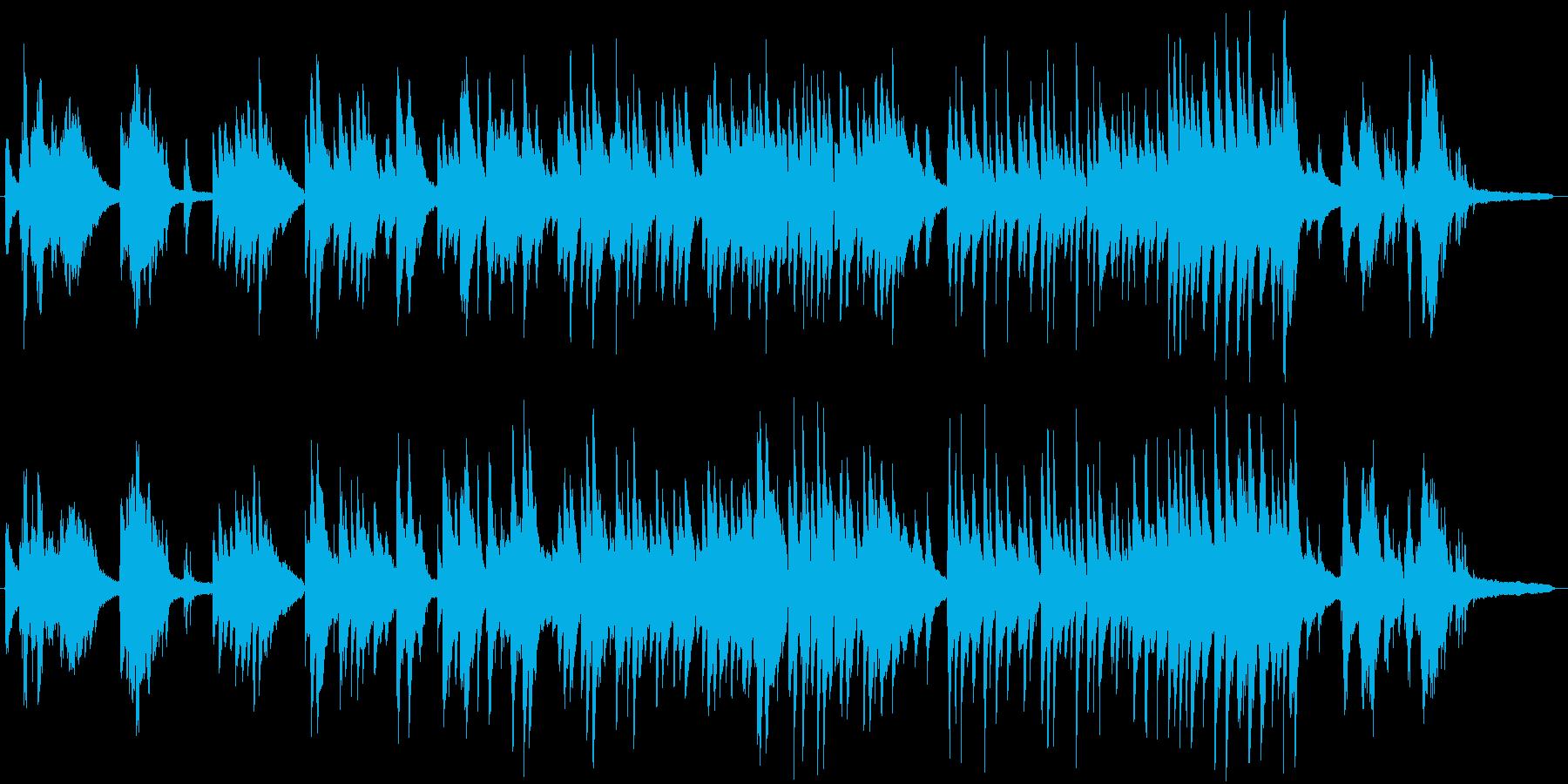 ロマンチックなピアノソロの再生済みの波形