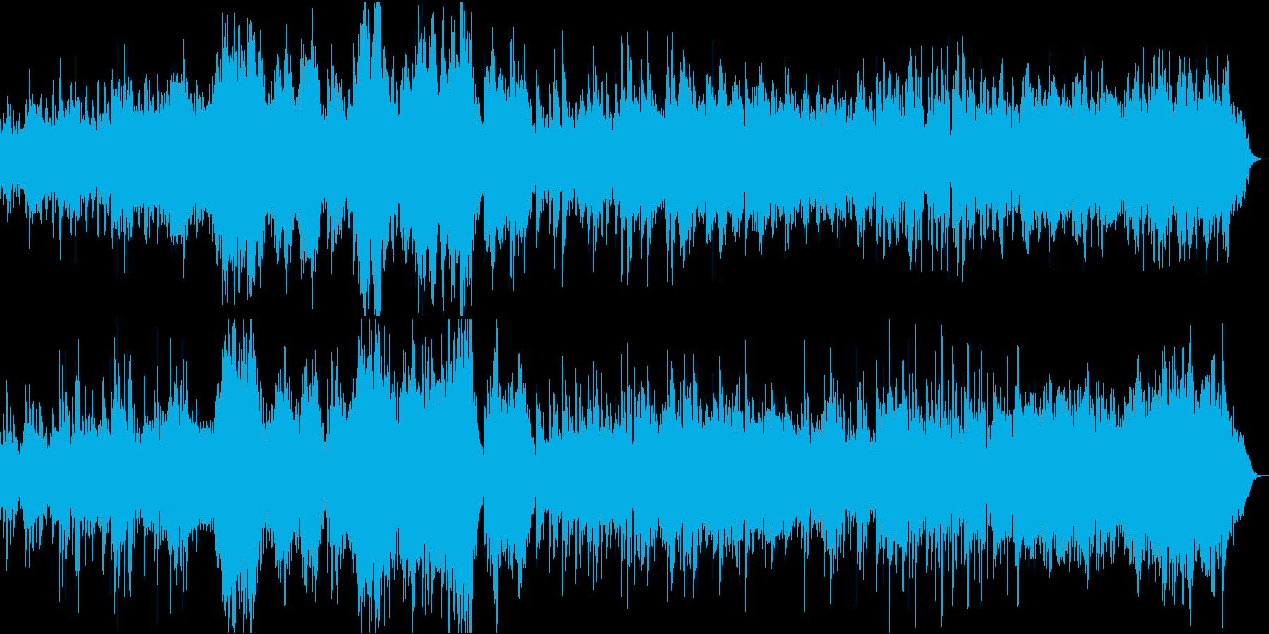 瞑想や神秘的な曲 ソルフェジオ周波数の再生済みの波形