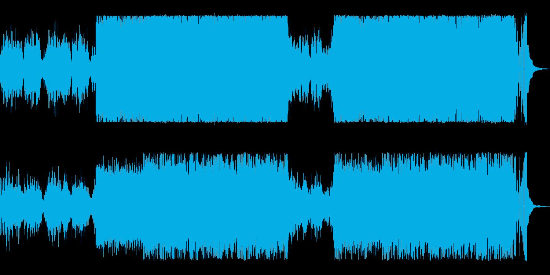 童謡の雰囲気のあるホラーBGMの再生済みの波形