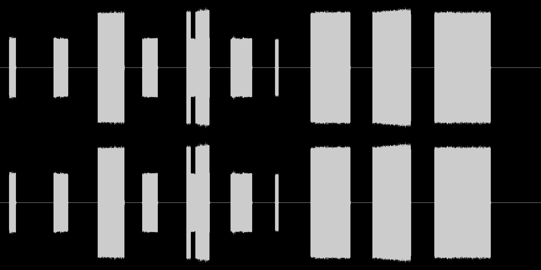ゲームで使えそうな効果音10コ作ってみ…の未再生の波形