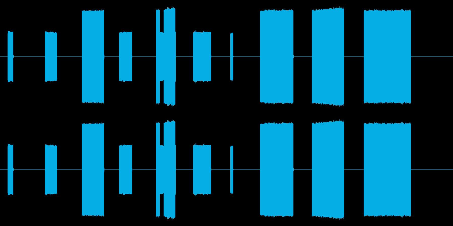 ゲームで使えそうな効果音10コ作ってみ…の再生済みの波形