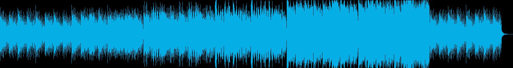 神秘的なヴァイオリンの入った曲の再生済みの波形