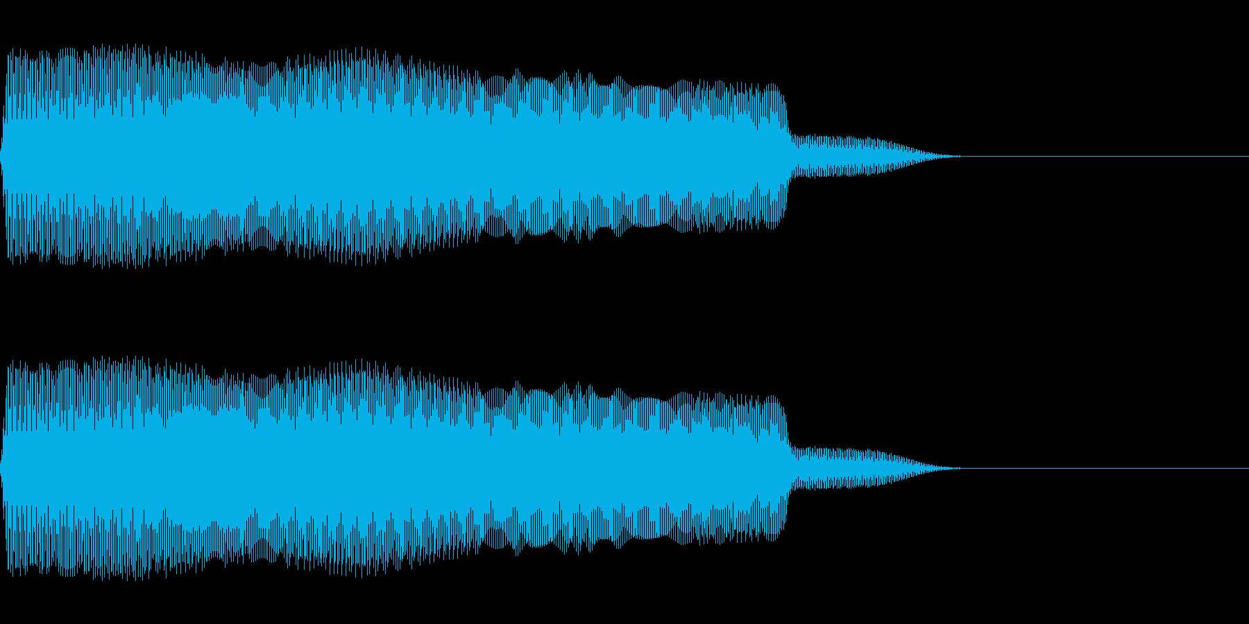 ミー(猫/鳴き声/ファミコン/キャーの再生済みの波形