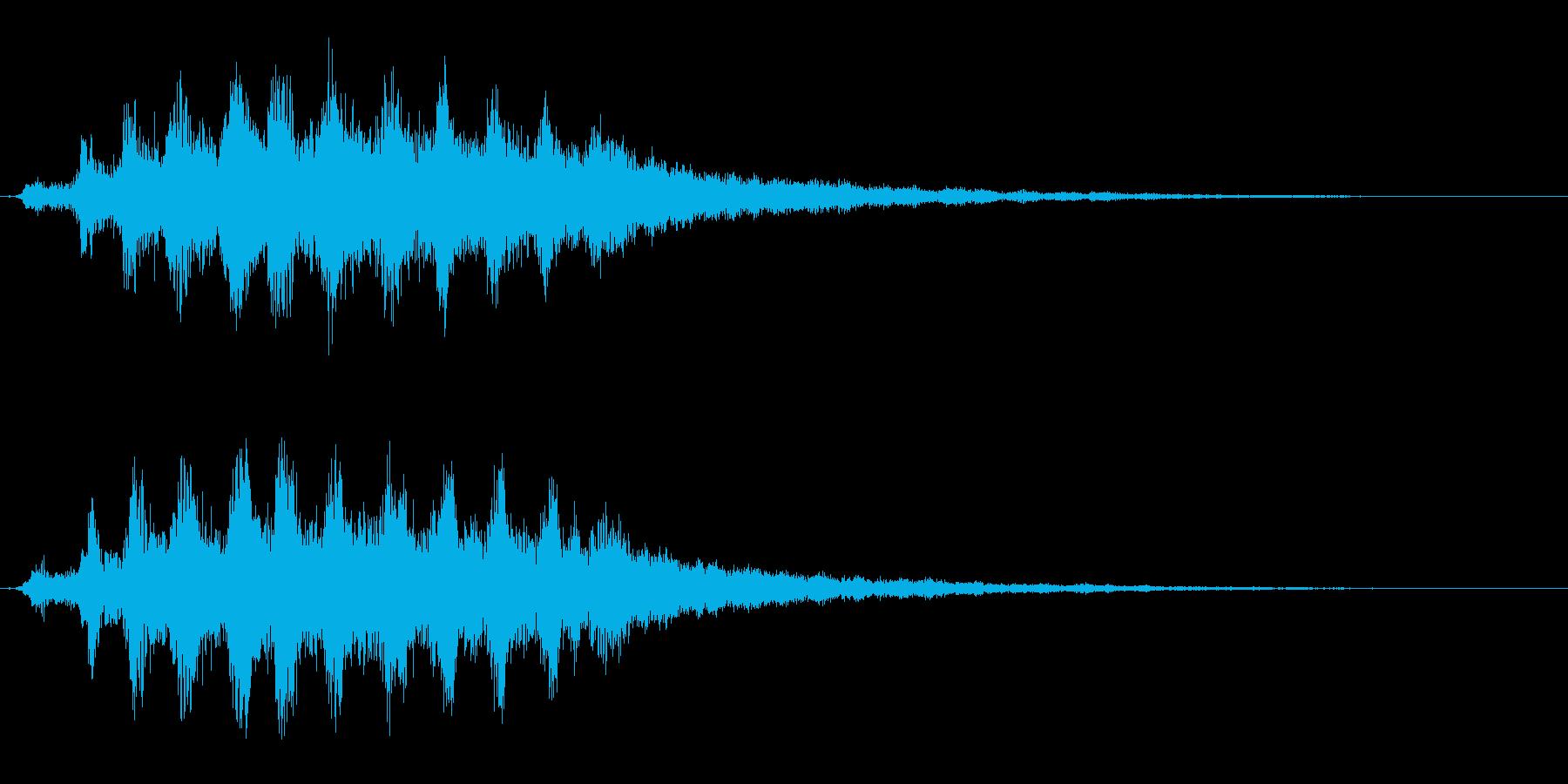 ハロウィン/ホラーに最適な不気味な笑い声の再生済みの波形