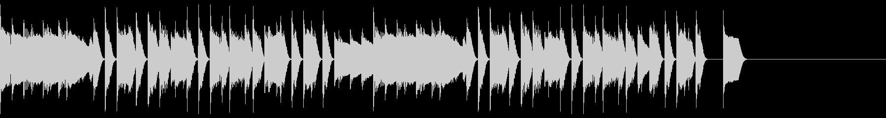 ほのぼのとしたピアノのジングル10の未再生の波形