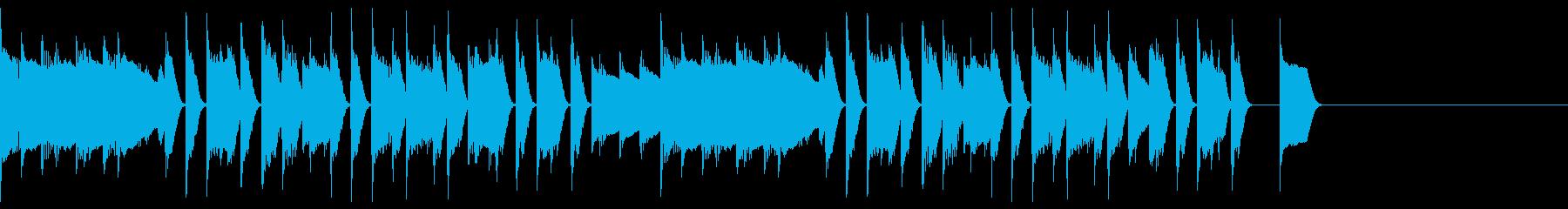 ほのぼのとしたピアノのジングル10の再生済みの波形