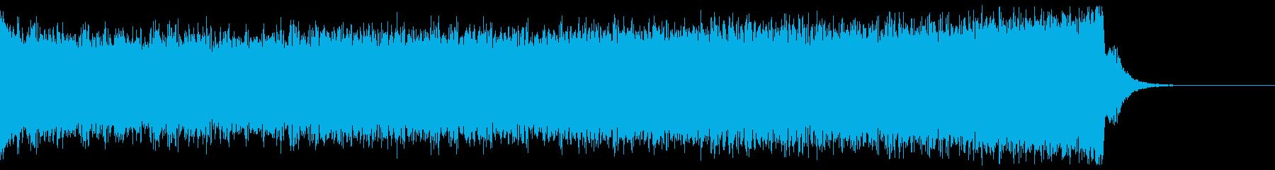 デジタル、CG、SFX等の映像ショート⑭の再生済みの波形