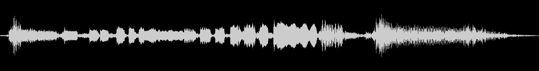 【エレキギター・リフ】ブルース風の未再生の波形