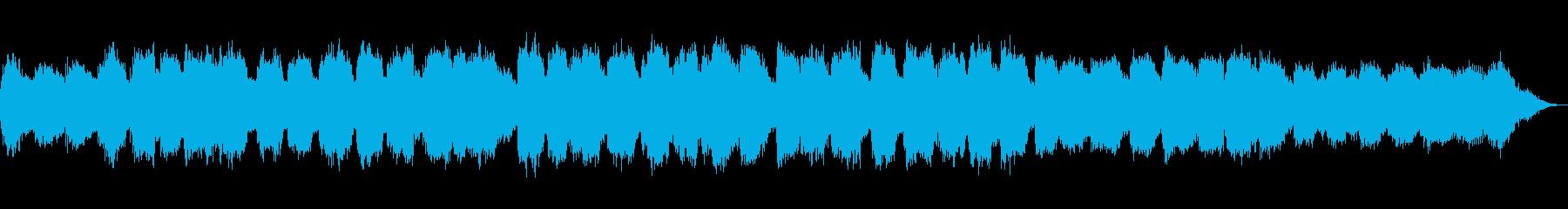 ピアノと低い笛の落ち着いた音楽の再生済みの波形