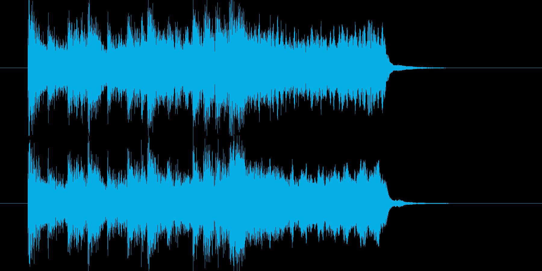 ブラスのスタンダードなファンファーレの再生済みの波形