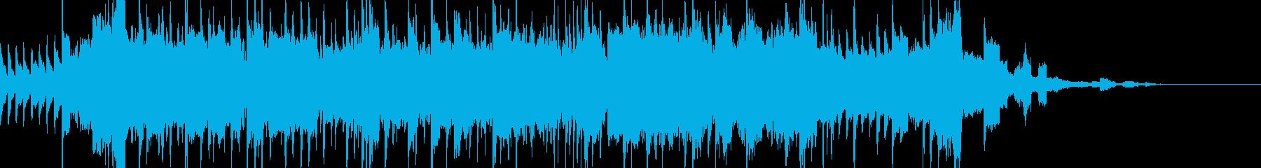 テレビのイントロに最適な速いペースの曲の再生済みの波形