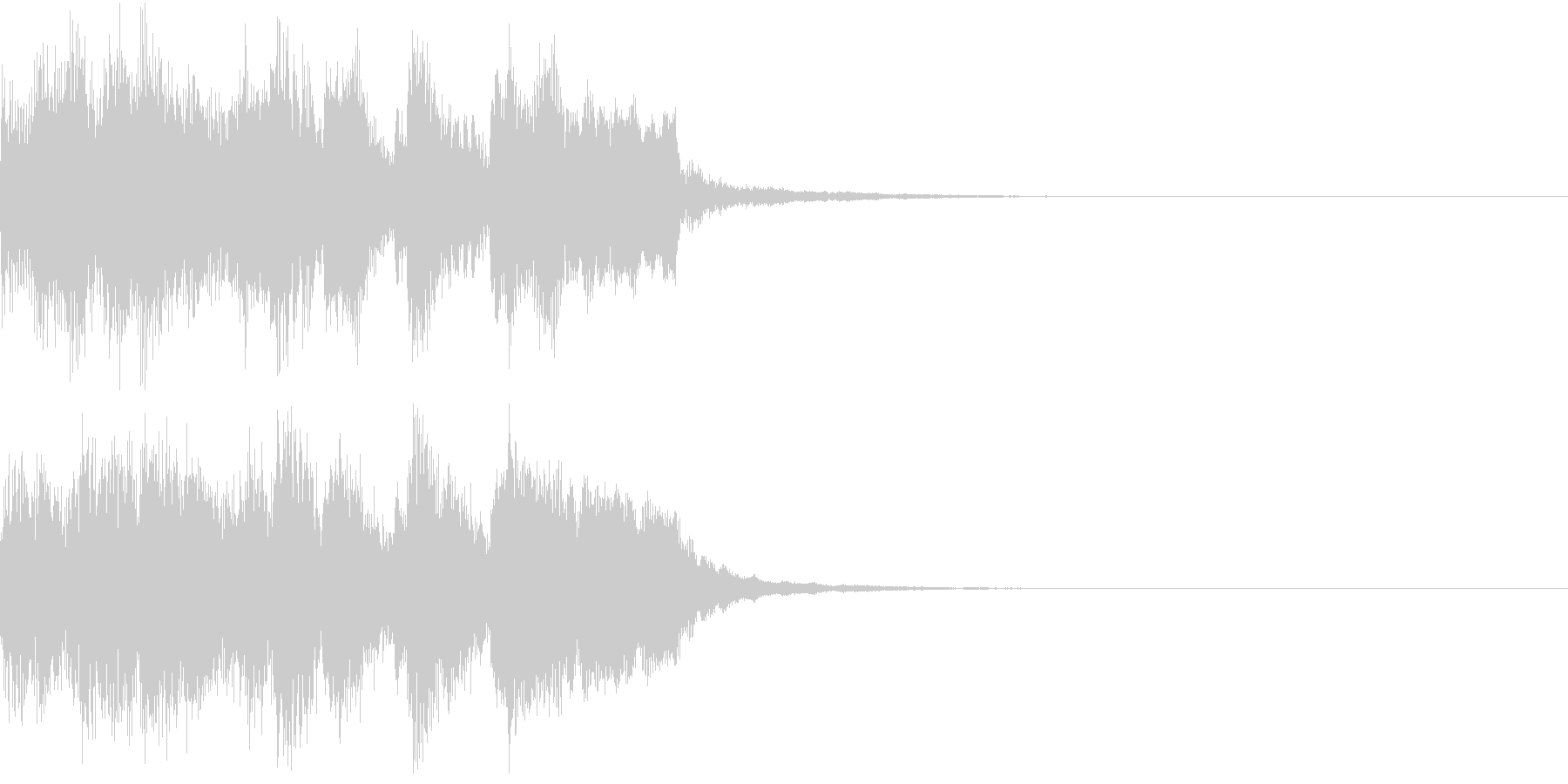 ファンファーレ アイテム レベルアップGの未再生の波形