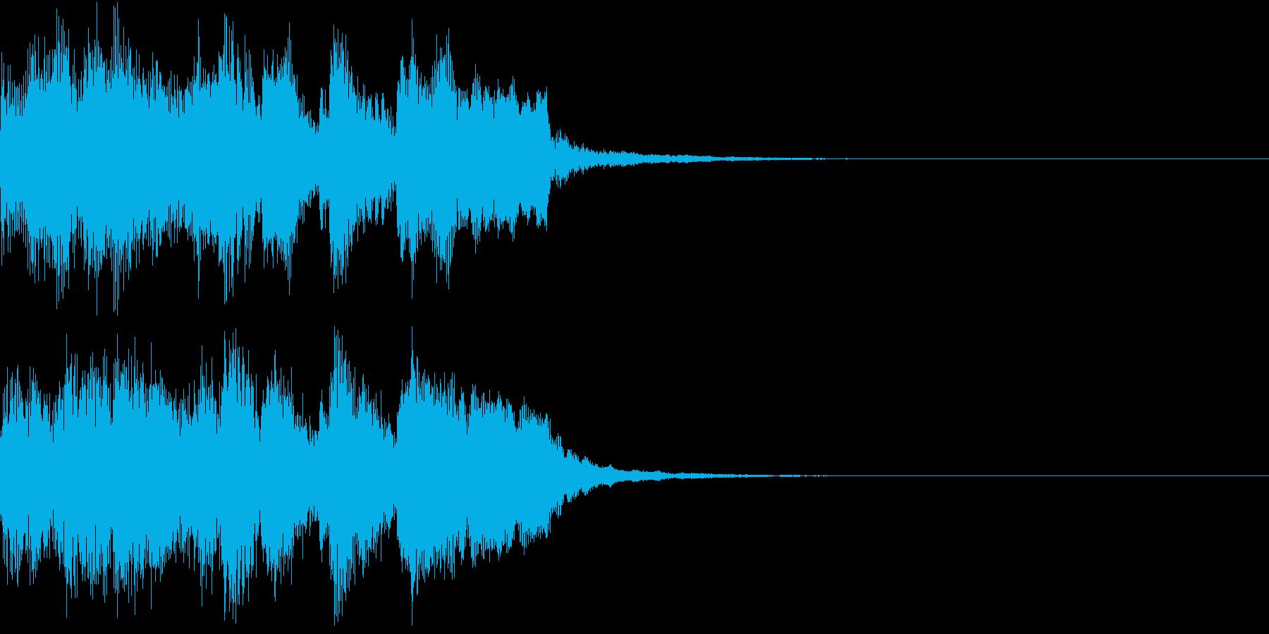ファンファーレ アイテム レベルアップGの再生済みの波形
