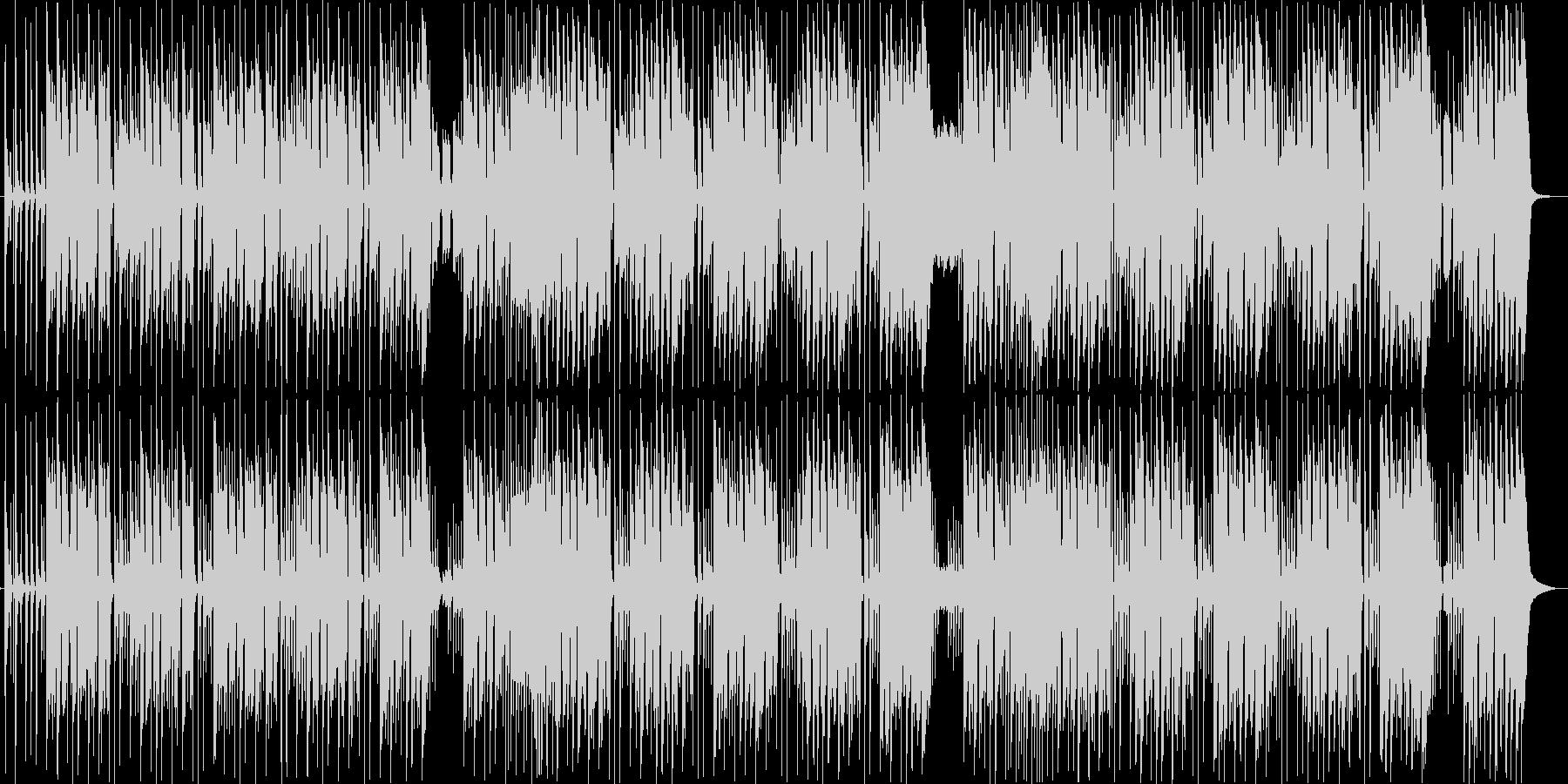 ほのぼのした日常系ブルースの未再生の波形