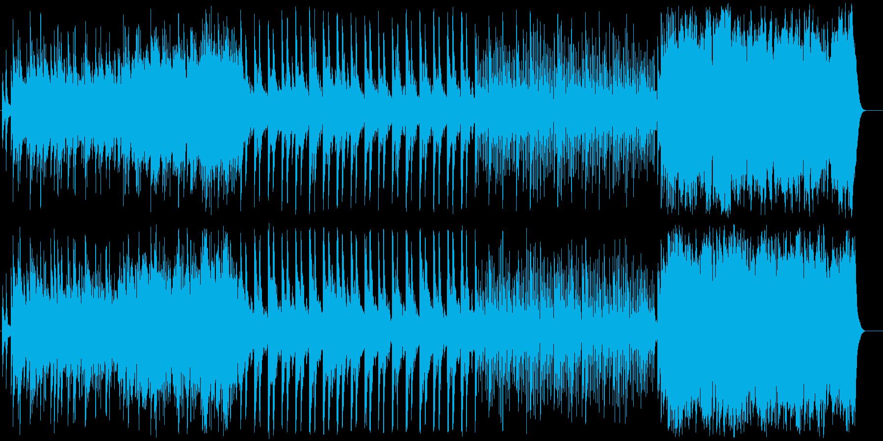 感動のエンディングを迎えるピアノバラードの再生済みの波形