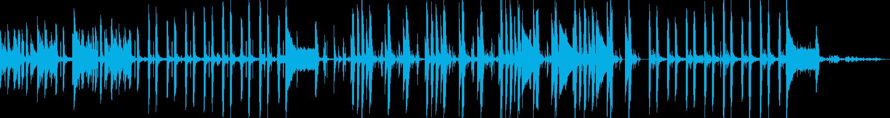 子どもの声とピアノ楽しげなミニマルBGMの再生済みの波形