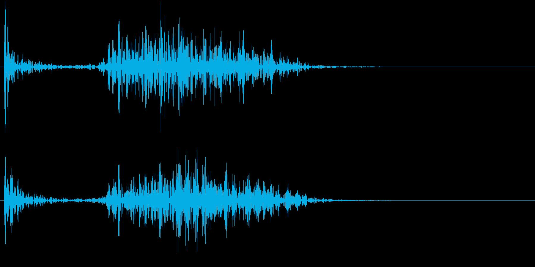 【生録音】ペンで書く音 机 13の再生済みの波形