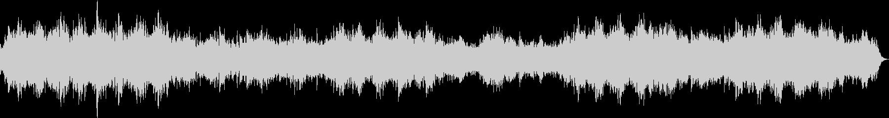 ピアノと壮大なシンセの感動的なバラード3の未再生の波形