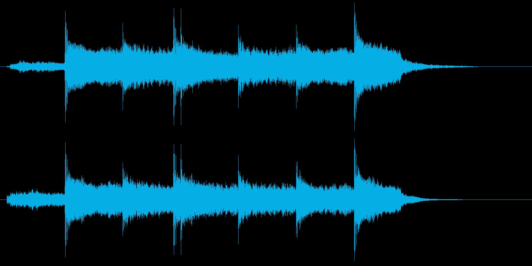 透明感がありフルートが印象的なBGMの再生済みの波形