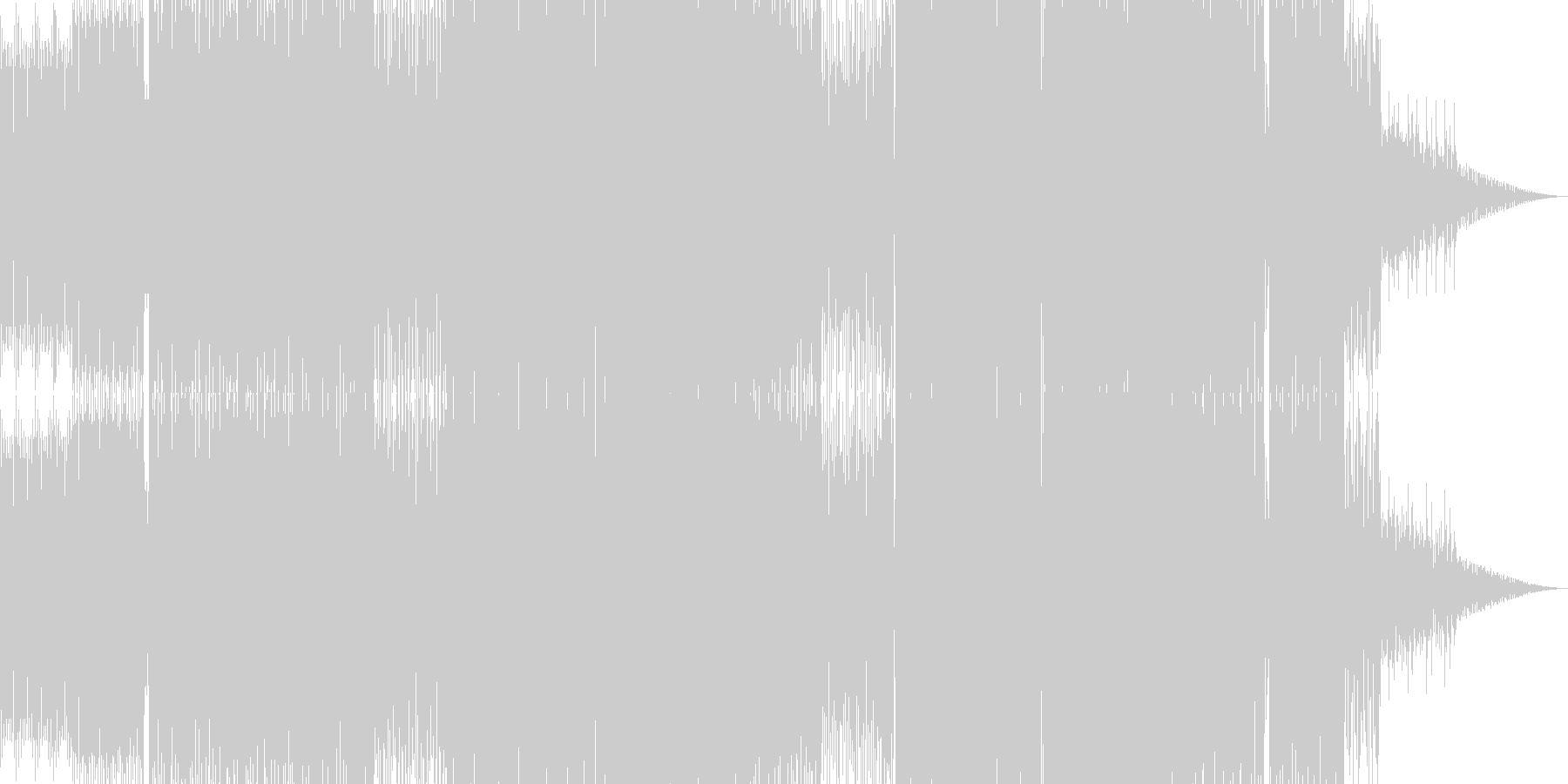 バレアリックなテックハウスBGMの未再生の波形