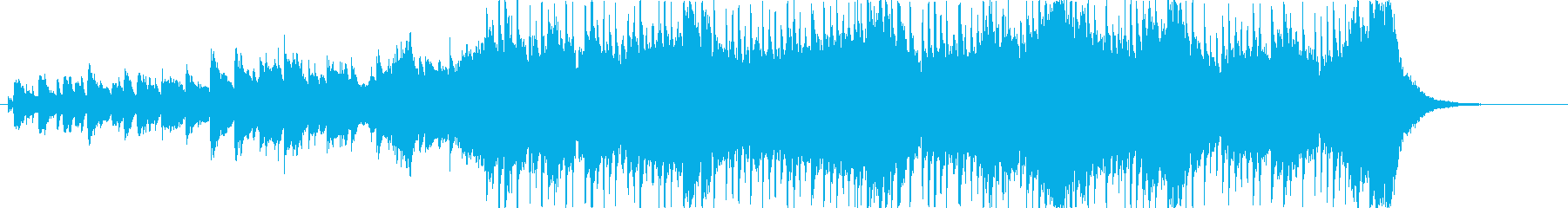 明るく前向きなジングルの再生済みの波形