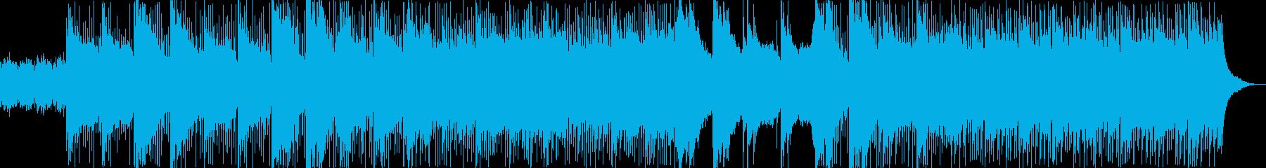 ギターアルペジオのふわっとした四つ打ちの再生済みの波形