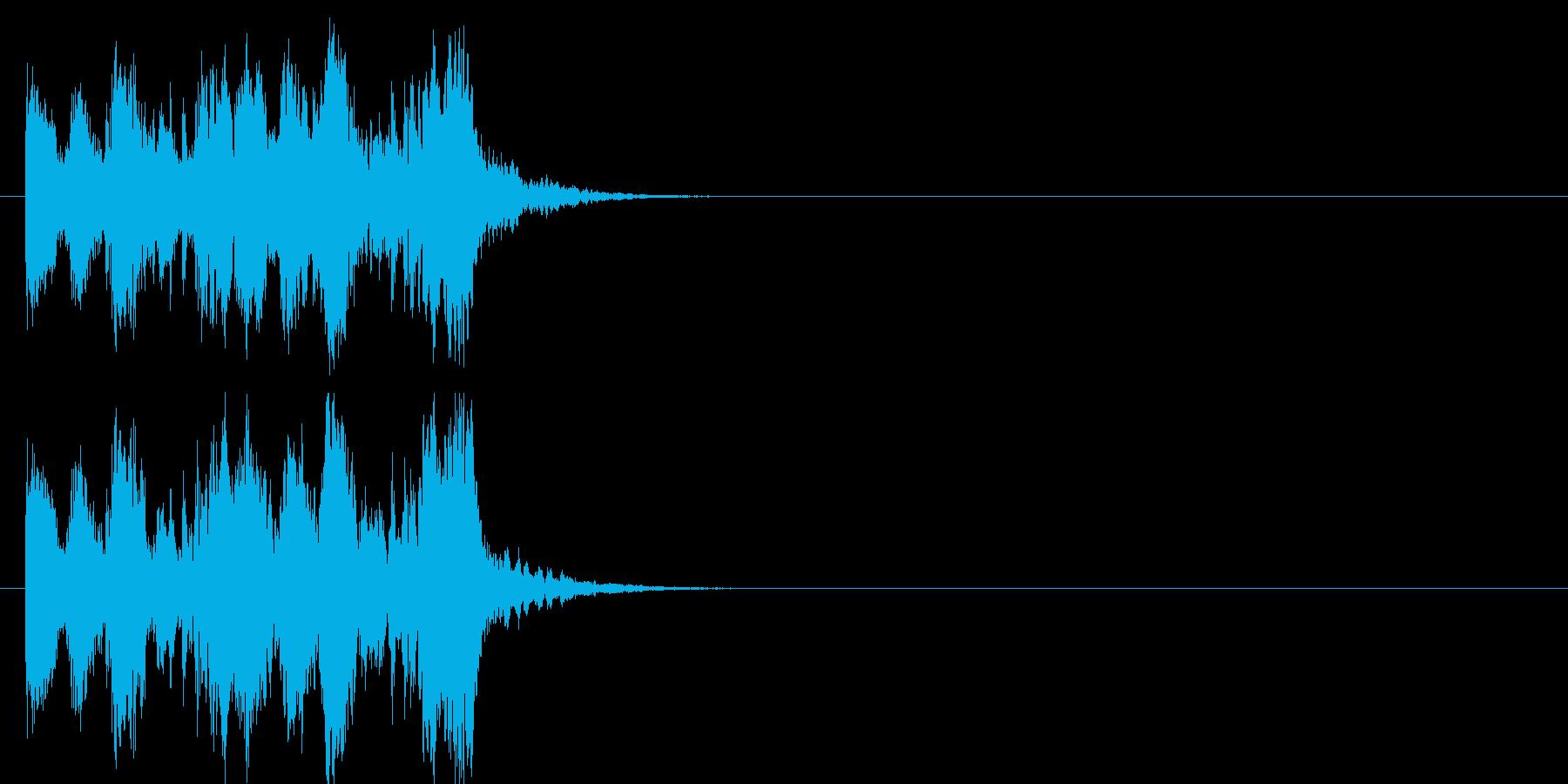 場面転換 忙しい クイズ エンディングの再生済みの波形