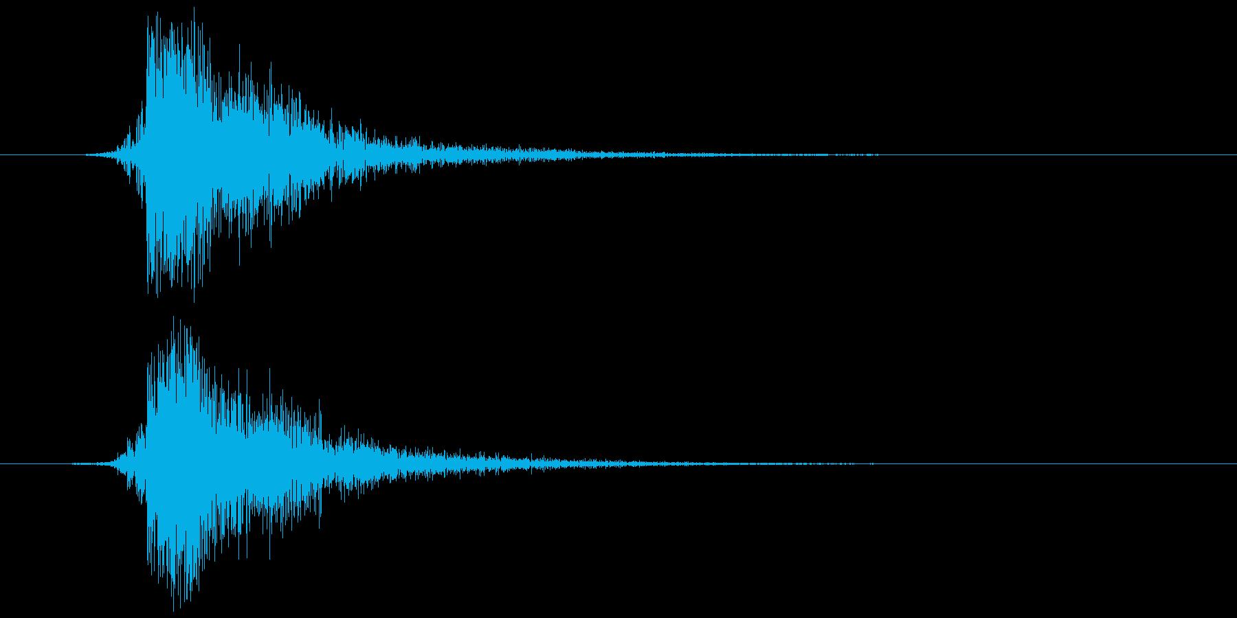 鍵(金属が擦れる) チッの再生済みの波形